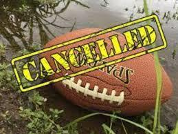 JV Football Game Cancellation